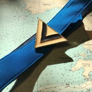 Blue Triangle Enamel Belt